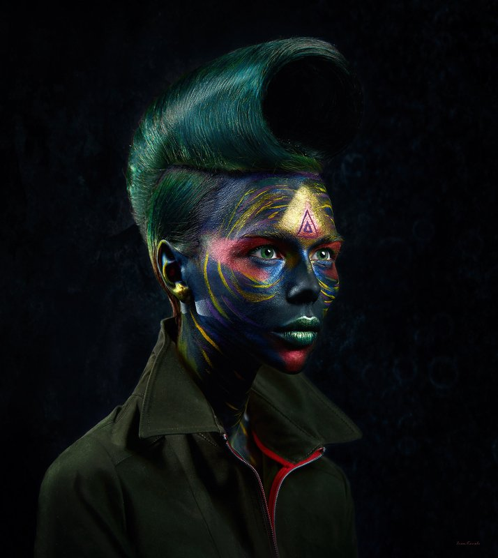 портрет, makeup, макияж, космос, мульт, wall art, model, space, hair, modern Mod 19photo preview