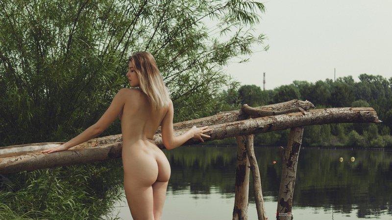 ню, обнажённая, голая, девушка, позирует, щукинский полуостров, строгино, каролина, модель, прекрасная Утро на Щукинском полуостровеphoto preview