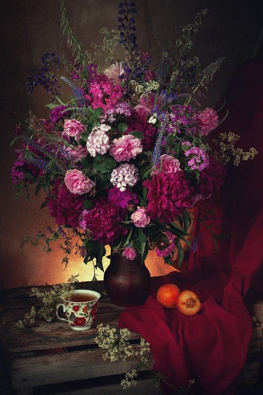 лето, натюрморт, цветы Пора ароматных букетовphoto preview