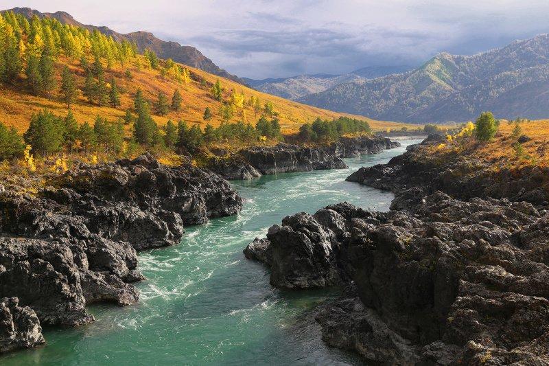 алтай, горный алтай, горы, сибирь,катунь Катунь осенняяphoto preview