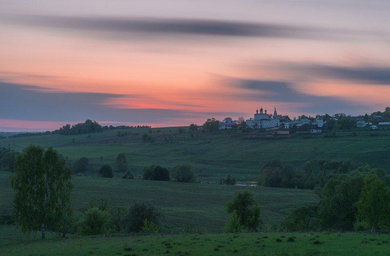 закат, одоев, монастырь, природа, вечер Уходящий деньphoto preview