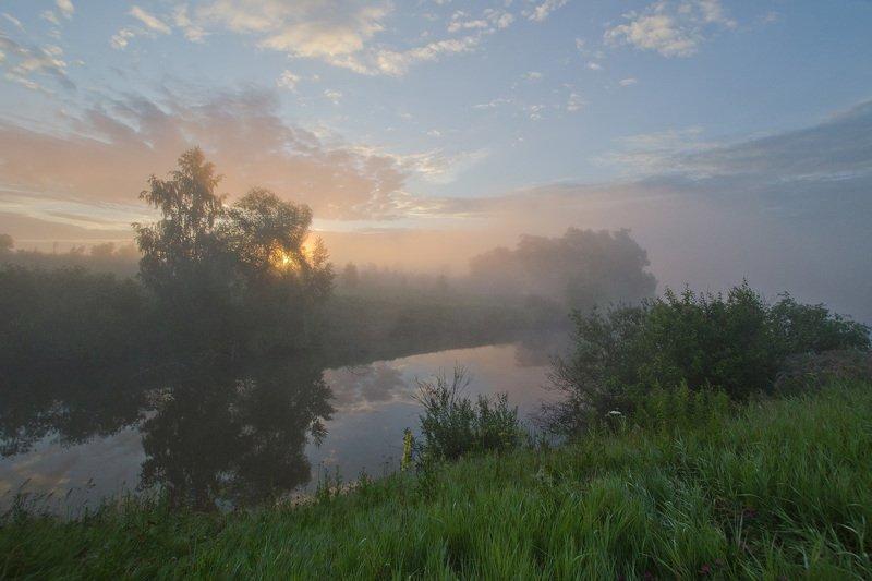 утро, рассвет, лето, пейзаж Рассвет в Ясногорском районеphoto preview