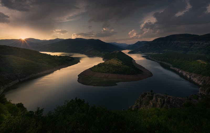 Sunset at Bulgarian mountains photo preview