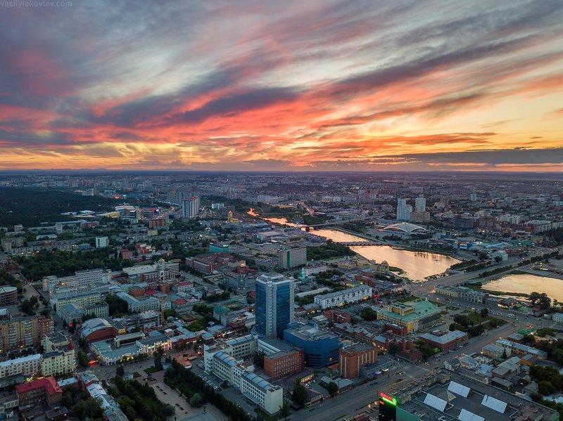челябинск Закат над Челябинском фото превью