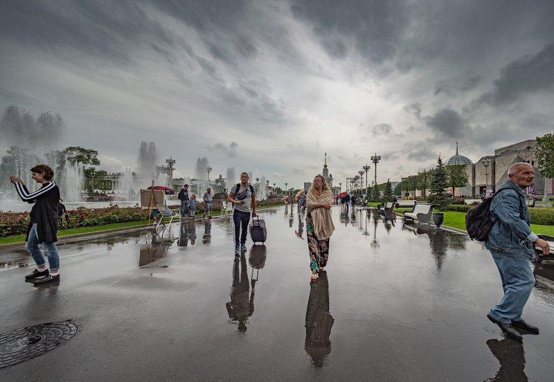 На ВДНХ после дождика, зарисовкаphoto preview