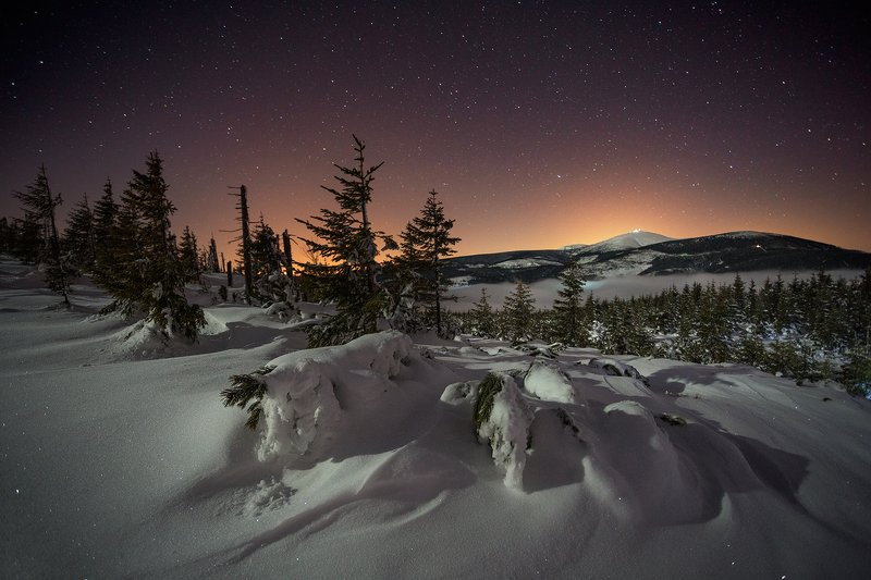 landscape,canon,night,winter The Coldest Night of the Year...photo preview