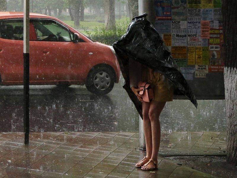 дождь, девушка, машина ...........photo preview