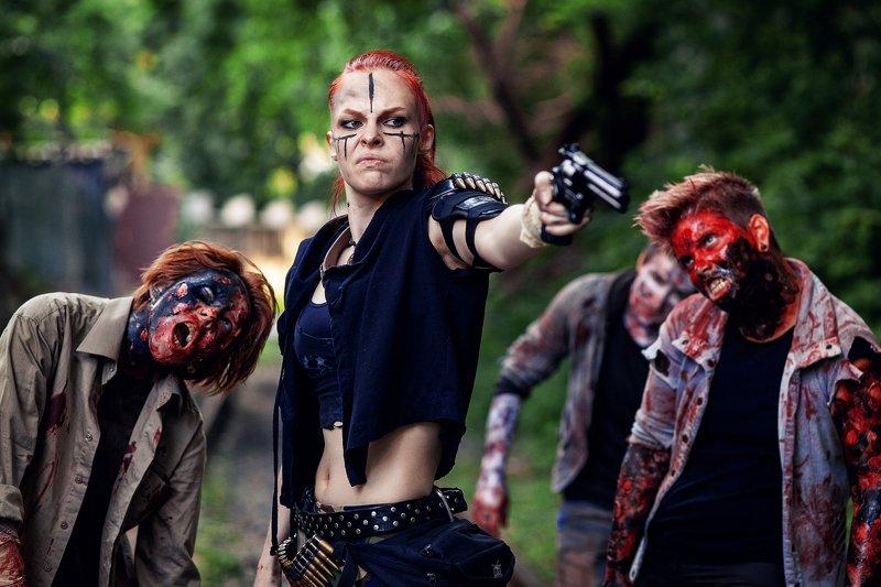 зомби, пистолет, ужас, триллер Сдохни! Сдохни! Сдохни! Сдохните все!!!photo preview