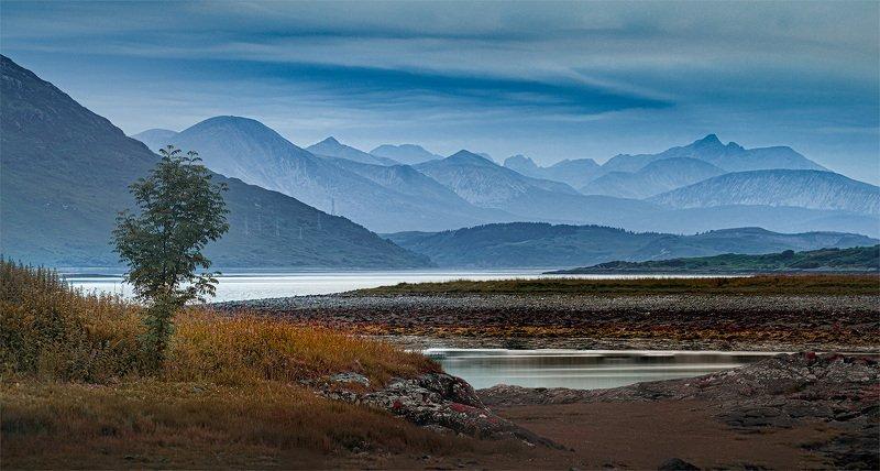scotland, landscape, sky, evening Near Eilean Donan Castle, Scotlandphoto preview