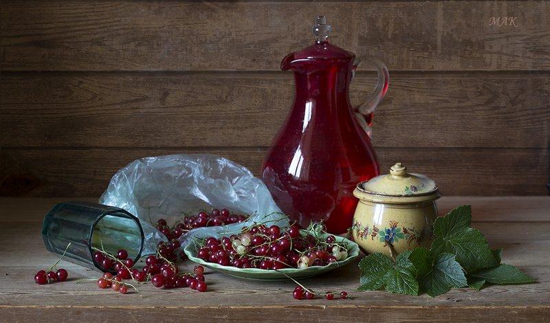 смородина, кувшин, стекло, стакан Красная смородинаphoto preview