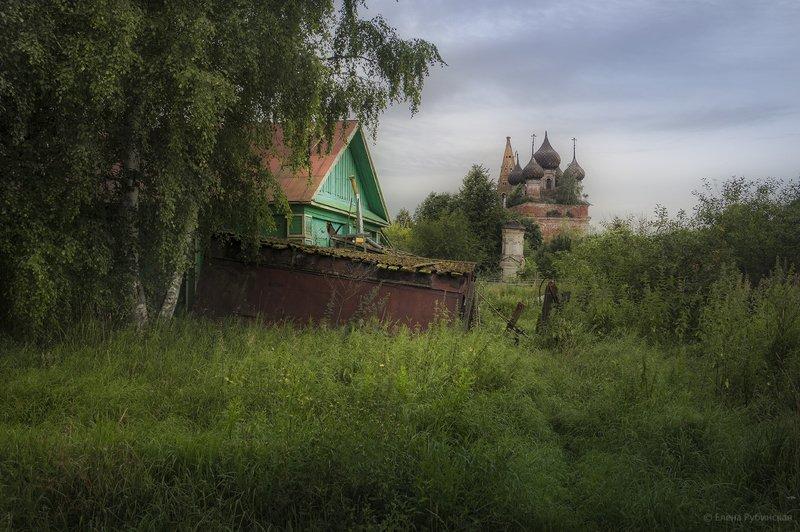 кострома,нерехта,село,церковь Хмурый рассветphoto preview