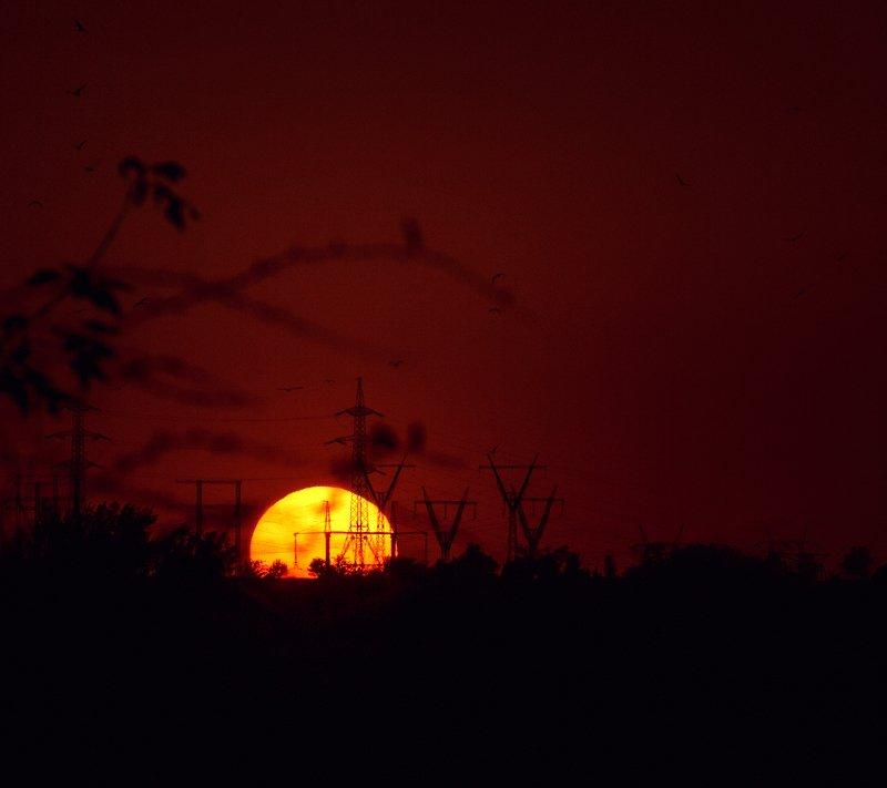 moment, момент, beautiful, красивый, canon 55-250, landscape, пейзаж, sunset, закат, sun, солнце, power, сила, energy, энергия, Энергия, которая так нужна человечеству...photo preview