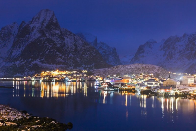 lofoten, norway, evening, travel, вечер, путешествие, лофотены Lofoten eveningphoto preview