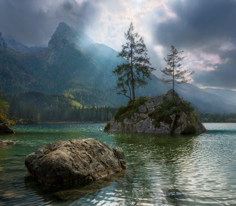 утро, горы, озеро, осень, вода, скалы, Немножечко Вагнеровщиныphoto preview