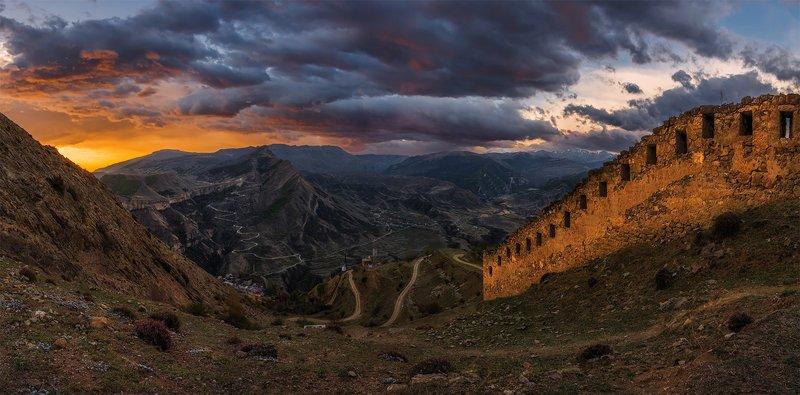 природа, пейзаж, горы, кавказ, природа россии, дикая природа, рассвет, свет, облака, утро, весна, ***photo preview