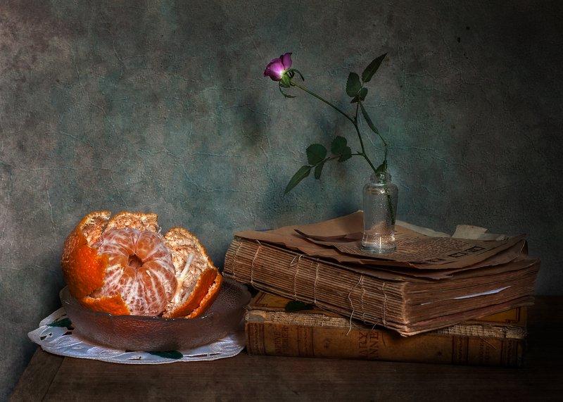 Mandarina en platophoto preview