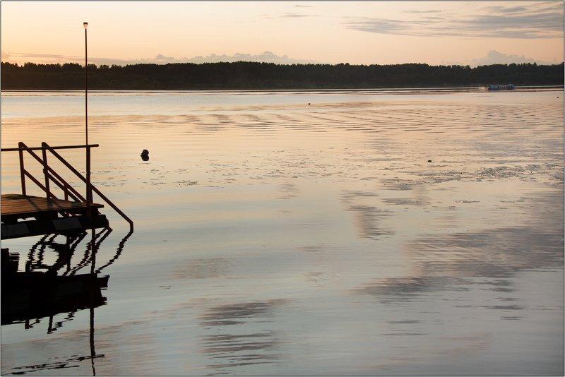 волга, вечер, закат, река Геометрия заката на Волгеphoto preview