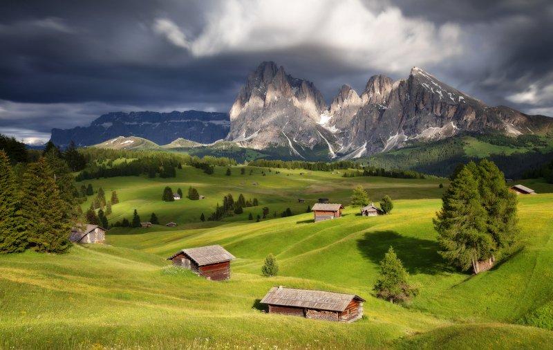 alpe di siusi, dolomites, italy, италия, доломиты Symphony Of Lightphoto preview