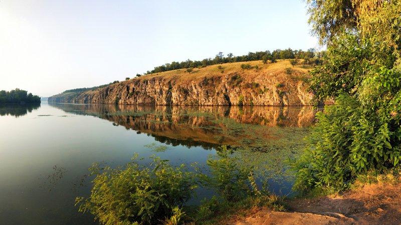 утро,рассвет,река,скалы,пейзаж,цвет,sunrise,отражение,релакс,берег,хортица Утренний релаксphoto preview