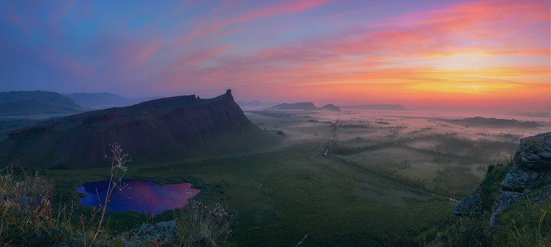 хакассия, сундуки, рассвет, туманная долина, степь, путешествие, Магия Хакасских пейзажей...photo preview