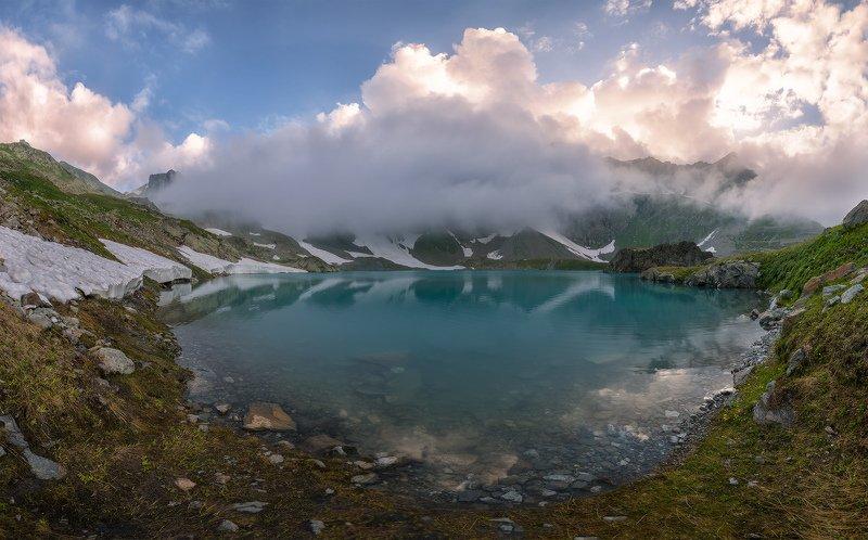 северный, кавказ, большое имеретинское озеро, вечер, июль, Озеро безмолвияphoto preview