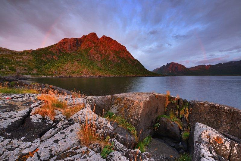 Радужные ночи острова Senja///photo preview