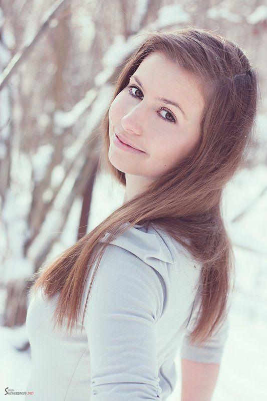 портрет, 2012, красивая, девушка, зима Викторияphoto preview