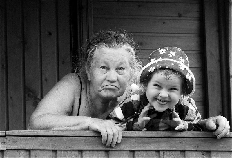 улыбка, бабушка, девочка, внучка, лето, дача :)photo preview