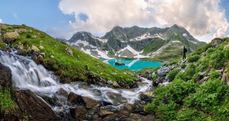 северный, кавказ, большое имеретинское озеро, вечер, июль, Большое Имеретинское озероphoto preview