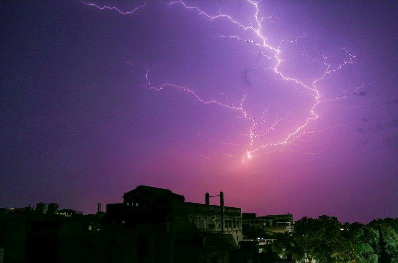 #Lights #light #Thunder #sky #VARANASI #Kashi #Banaras #noperson #DhirajGoswami The light s of Thunderphoto preview