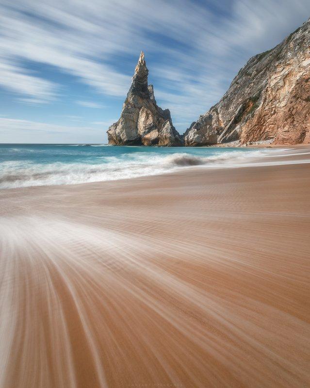 Пляж, море, длинная выдержка, день Пляжphoto preview
