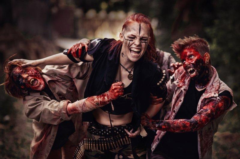 зомби, ужас, триллер, кровь Жаль нет ружья!photo preview