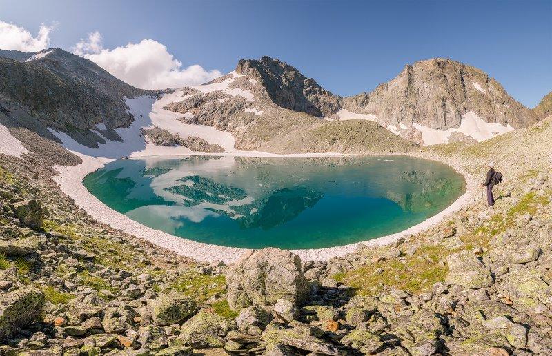 северный, кавказ, имеретинский узел, озеро поднебесное, утро, июль, Имеретинский узел. Озеро Поднебесное.photo preview