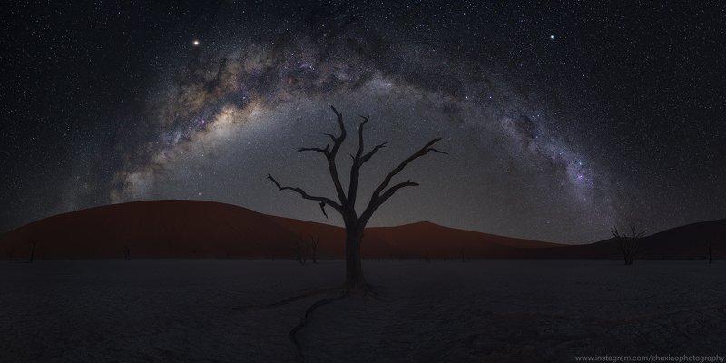 намибия,африка,ночь,путешествие Красная песчаная дюна ночьphoto preview