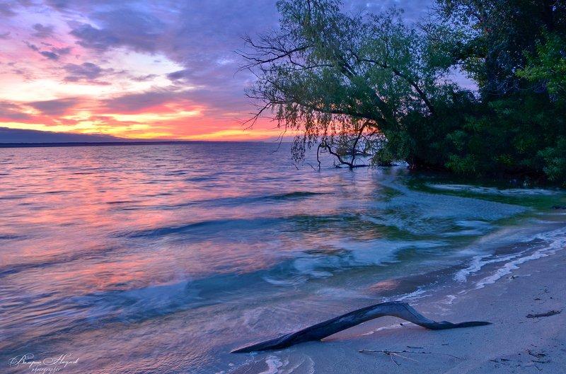 лето, море, утро, рассвет, восход, Предрассветиеphoto preview