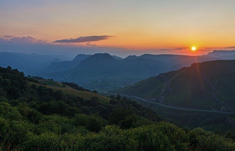 горы, закат, кавказ ***photo preview