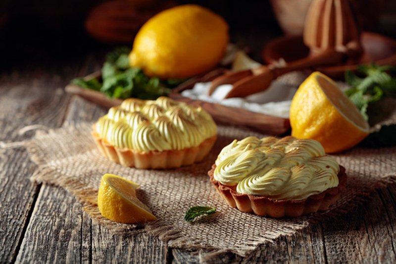 Тарталетки с лимонным кремом и мятой.photo preview