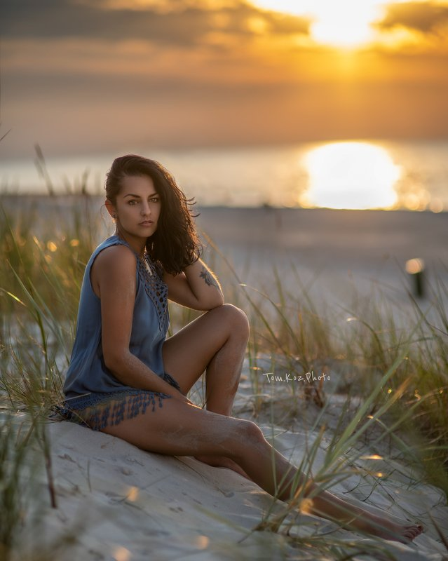 d850, nikon, beach, girl, 85mm, sunset, baltic, poland Angelaphoto preview