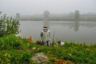 Утренний рыболов.(3000)