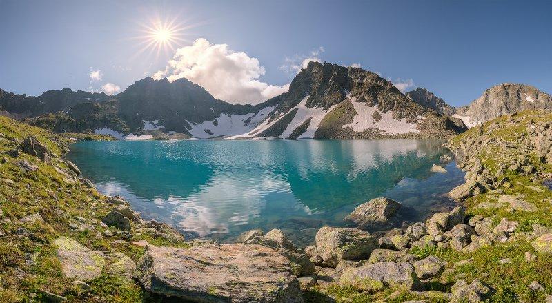 северный, кавказ, имеретинский узел, озеро буша, утро, июль, Имеретинский узел. Озеро Бушаphoto preview