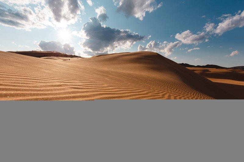 природа, пейзаж, закат, пустыня, монголия Золото Хар-Нуурphoto preview