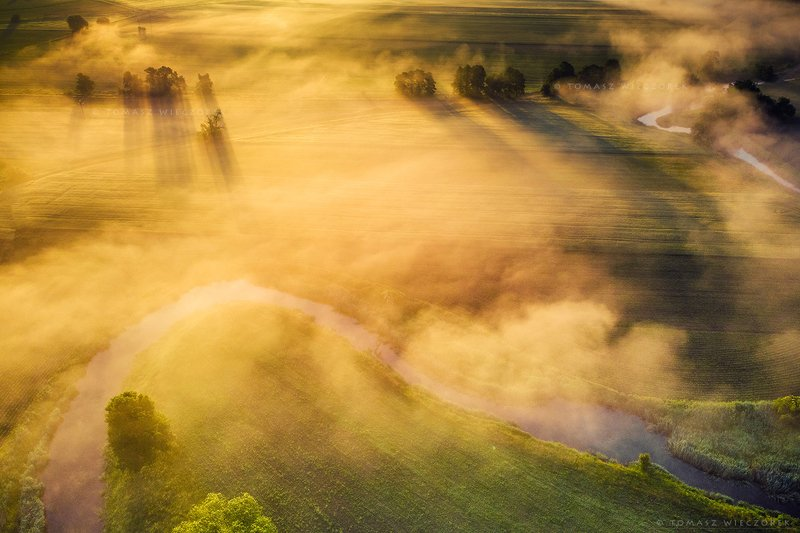 fields, drone, dji, air, poland, polish, landscape, sunrise, sunset, colours, spring, awesome, amazing, adventure, travel, beautiful, morning Morning breathphoto preview