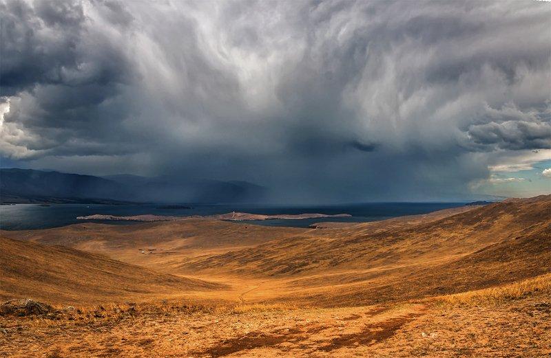 природа, пейзаж, сибирь, озеро, байкал, лето, дождь Дождьphoto preview