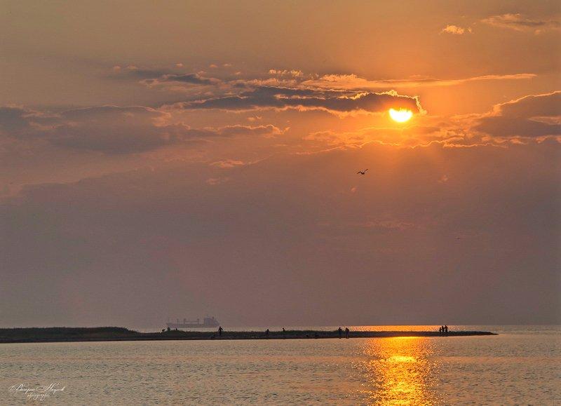 лето, море, азов, вечер, закат Закат на Азовеphoto preview