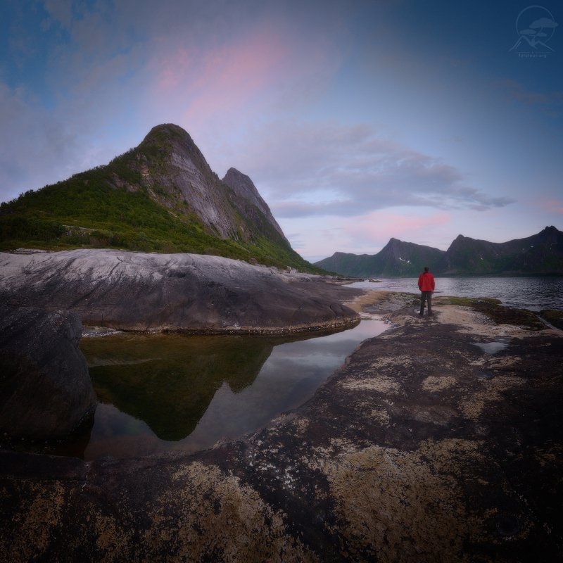 пейзад, природа, море, горы, норвегия,сенья Tungeneset on Senja фото превью