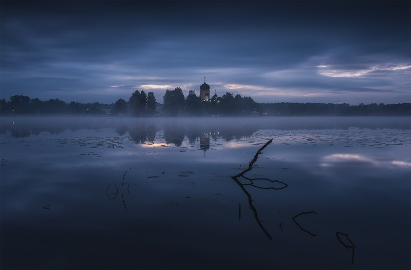 утро, рассвет, природа, туман, река Mystical sunrisephoto preview