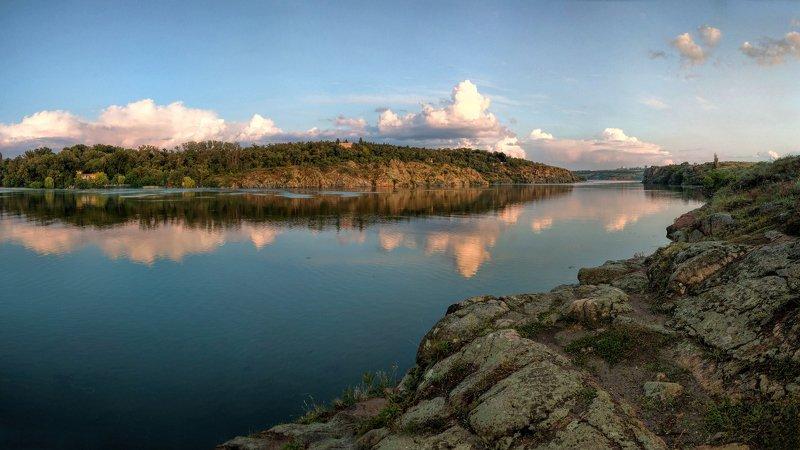 вечер,пейзаж,релакс,отражение,вода,берег,облака,свет После дождя...photo preview