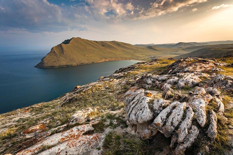 озеро, байкал, тажеранские, степи, бухта, ая, пейзаж, закат, лето Бухта Аяphoto preview