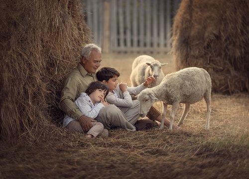 С дедушкой