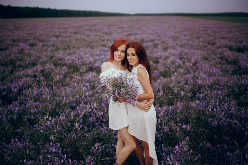 портрет, девушки, природа, цветы Purplephoto preview
